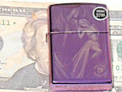 New ZIPPO Windproof Flame Lighter Anne Stokes Collect Skeleton Angle Abyss 79353