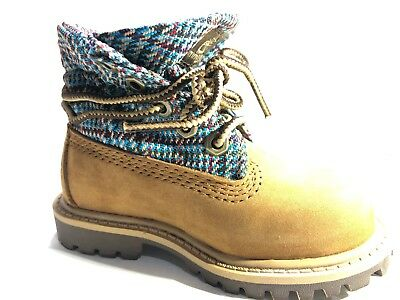 Timberland TODDLER KIDS Unisex Roll-Top WATERPROOF Yellow Boots Shoes 9784R baby
