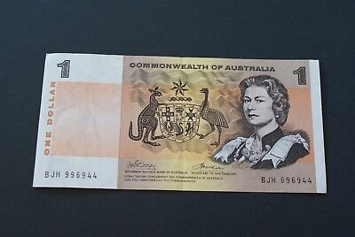 $1 'commonwealth Of Australia' Banknote Ef - Phillips And Wheeler   Bjh  Series