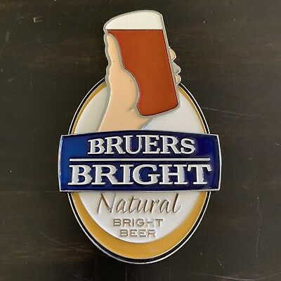 Bruers Bright Beer Tap Badge, Top, Decal