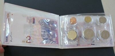 Singapore / Malaysia coin  and banknote souvenier set