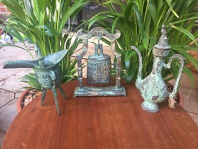Vintage Chinese Bronze Cast Ornaments