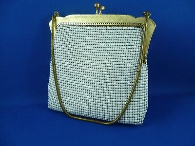 Vintage Oroton White Mesh Evening Bag