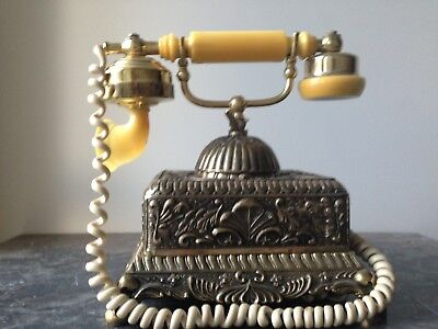 antique vintage telephones Brass French