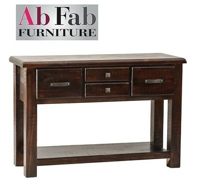 Fully Constructed Cobar Hall Table 4 Drawer Sideboard Console Timber Medium