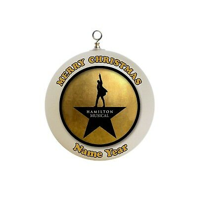 Personalized  Hamilton Musical Christmas Ornament #1