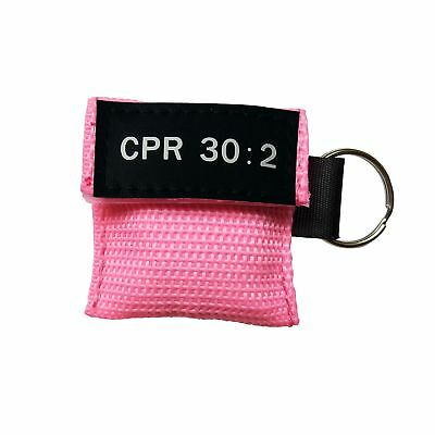 100X CPR 30:2 One-way Valve Disposable Respirater CPR Mask Keychain Face Shields
