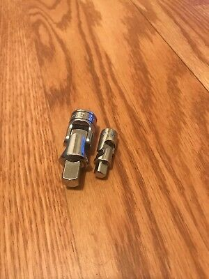 2 Snap On Universal Joints.  1/4 and 3/8.