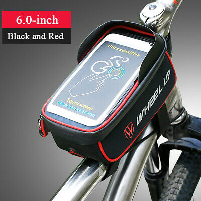 Bike Front Frame Bag Top Tube Phone Bags Waterproof Touch Screen Bicycle Bags