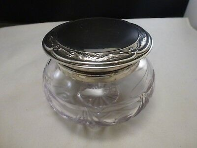 Vintage TOWLE SPAIN Dresser Vanity Powder Jar  Lead Crystal