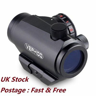 Tactical Rifle Pistol Red Green Dot Sight Scope Weaver 20mm Rail Mount VERY100