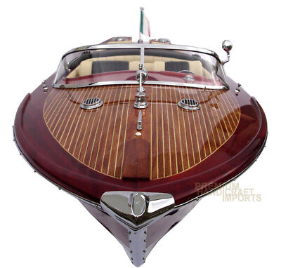 Special Riva Aquarama Gorgeous  Handmade Wooden Model Speedboat 34""