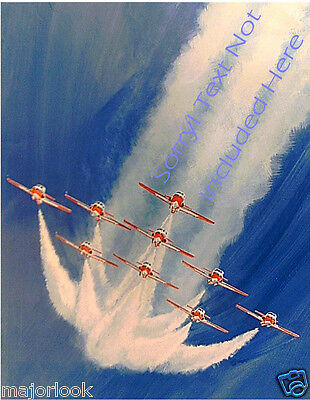 SNOWBIRDS DIVING FLYING OUT OF THE BLUE!  - Graham Wragg Giclée print