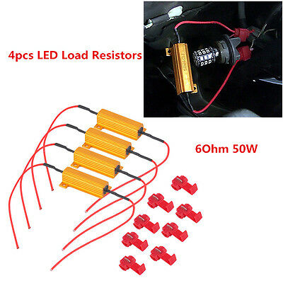 4x LED DRL Fog Light Canbus 50W 6ohm Load Resistor Error Free Decoder Cancel Hot