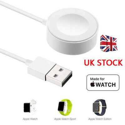 Magnetic Charging Cable Wireless Charger Dock For Apple Watch iWatch 1/2/3/4 UK