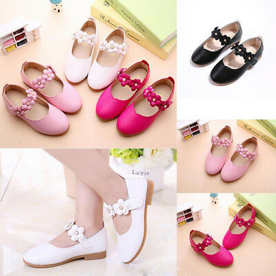 Cute Baby Kids Toddler Infant Girls Flats Wedding Party Princess Shoes Gift UK
