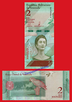 VENEZUELA 2 Bolivares soberanos 2018 NEW DESIGN Pick New  SC / UNC