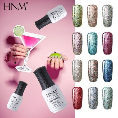 HNM Glitter Starry Nail Gel Polish Base Top Coat Manicure Varnish Lacquer Salon