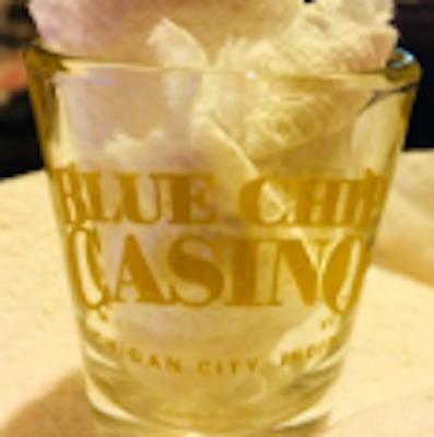 Blue Chip Casino Shot Glass Michigan City Indiana