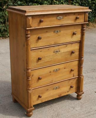 FANTASTIC LATE 19th CENTURY  ANTIQUE DANISH PINE CHEST OF DRAWERS