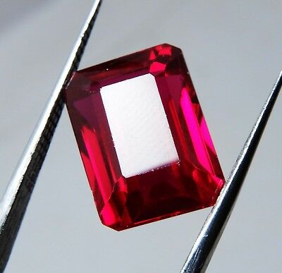 Natural 4.60 Cts Emerald Cut Blood Top Red Ruby Loose gemstone AH 136