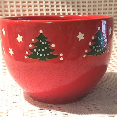 Waechtersbach Germany RED CHRISTMAS TREE 5 inch Nut Bowl,  EUC!!!