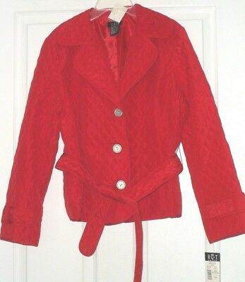 *r.q.t. Women's Jacket Size Pm Quilted Lightweight Red Msrp:$54.00 Nwt