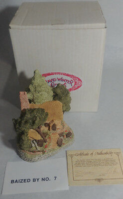 Vtg 1985 David Winter Hermits Humblehome COA In Box Cottage