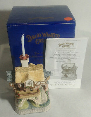 Vtg 1994 David Winter SPECIAL EVENT WHISPER'S COTTAGE in original box with COA