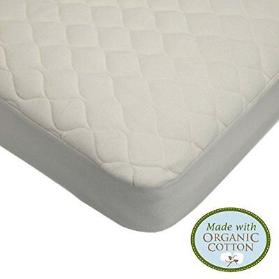 Waterproof Quilted Crib Toddler Size Fitted Mattress Cover Organic Cotton