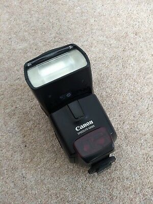 Canon Speedlite 430EX Shoe Mount Flash with case and manual