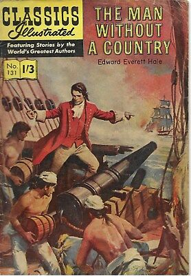 """Classics Illustrated #131  """"A Man Without a Country"""" - no date evident"""
