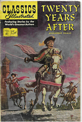 """Classics Illustrated #41  """"Twenty Years After"""" - December 1963"""