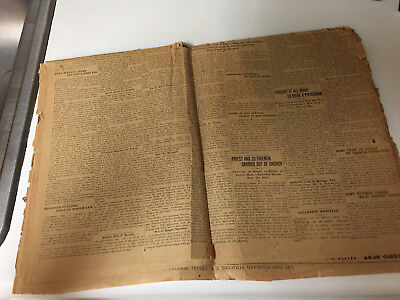 "Antique / Vintage 1934  ""panama American"" Newspaper"