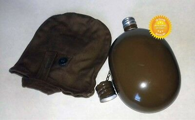 Dated USSR Russian Army Original Flask Soviet Water Bottle Military Canteen Case