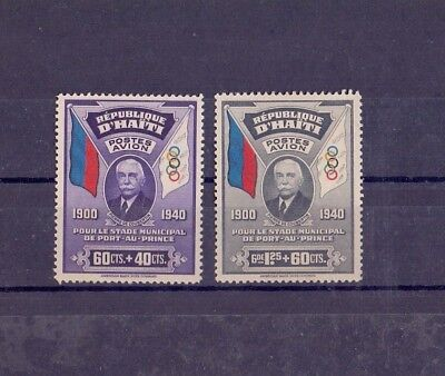 HAITI sports Mi 280/1 1940 two airmail stamps very nice *  views picture!
