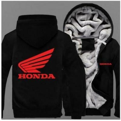 2019Hot New white Honda Red Honda Zipper Hoodie Winter Coat Fleece Unisex Jacket
