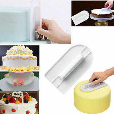 Cake frosting smoother acetate decorating paddle fondant icing polisher finisher