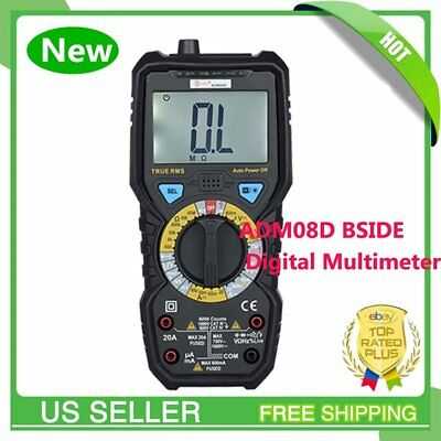 BSIDE Digital LCD Multimeter RMS Temperature Tester AC DC Voltage Meter MA