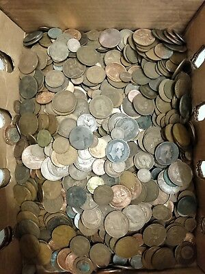 One Pound (1 lb) Of GB Large Pennies, Unsearched