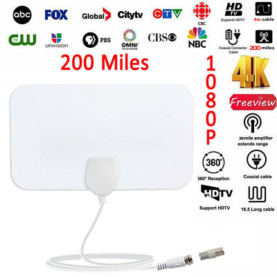 1080p 200 Mile Range Antenna TV Digital HD Skylink 4K Antena Digital Indoor HDTV