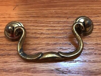 Chippendale Vintage Antique Hardware Drawer Pull Brass Swan Neck 3 1/2""
