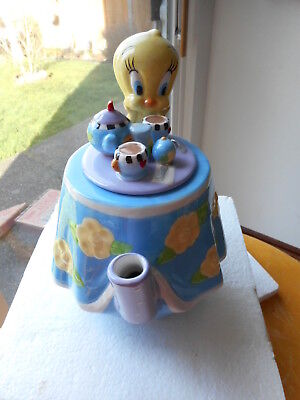 Tweety's Tea Party Teapot. Opened in Original Box View Pictures. EUC 1999
