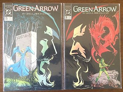 "Green Arrow #25 & 26   (DC 1989)   ""Sherwood Forest Part 1-2""   Grell    VF"