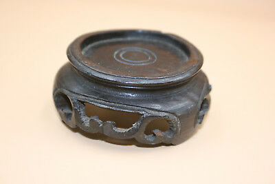 Antique Chinese Wooden Carved Small Stand for Small Vase/Bowl/Jar Display