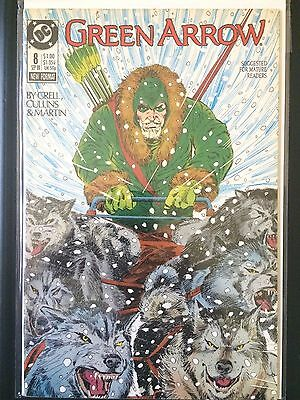 Green Arrow #8   (DC 1st Series 1988)     Mike Grell      VF
