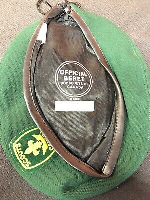 Boy Scouts Canada * Green Beret * hat Vintage Official Headwear Size Large