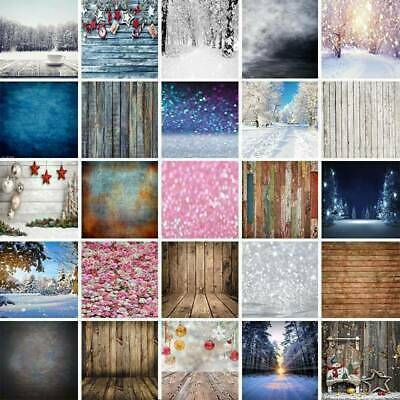 Glitter Wood Plank Vinyl Photography Backdrop Background Winter Snow Photo Prop