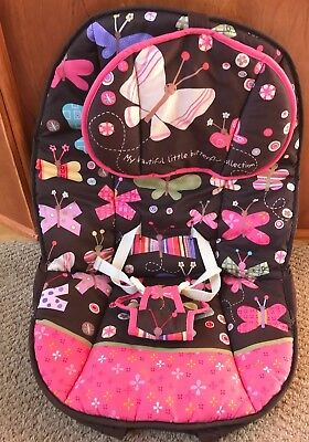 Fisher Price Calming Vibrations Butterfly Print Replacement Bouncer Seat Cover
