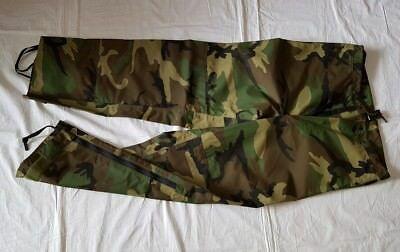 Woodland, ECWCS GEN 1, Extreme Wet/Cold Weather Hose, Small-Regular - US Army